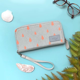 peach printed wallet,purse,mobile wallet