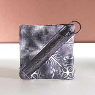 Hypnotic printed small table bag black coin purse