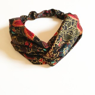 Only 2, Vintage Cotton Print Handmade Hairband ( Limited Edition )