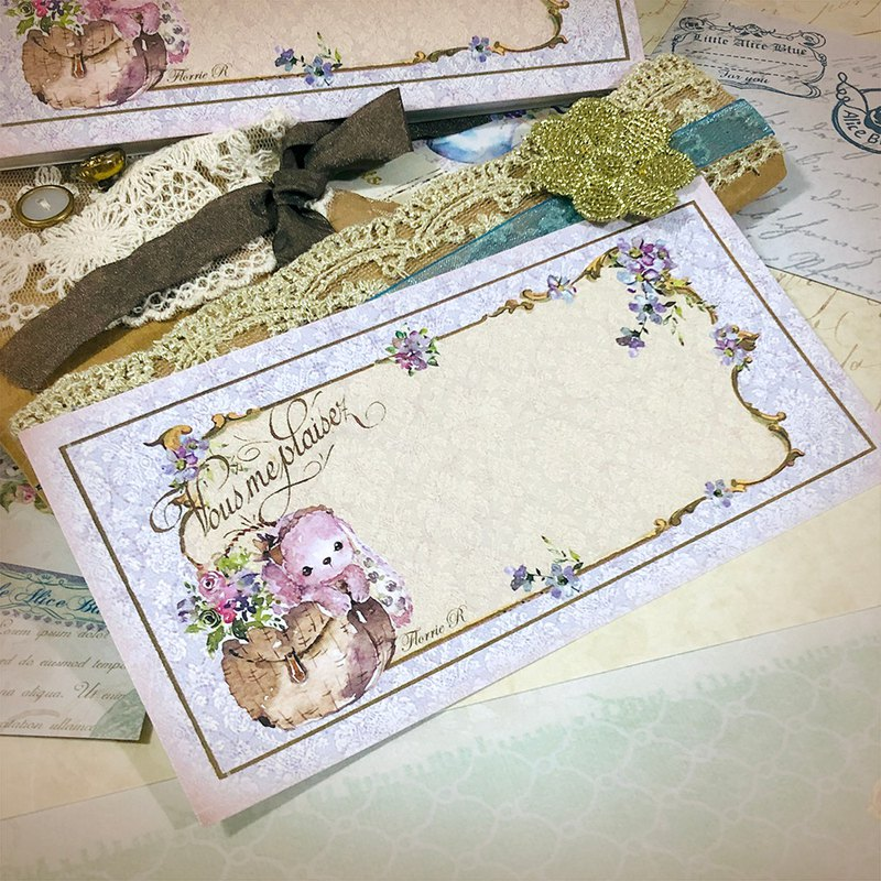 Little Alice Blue Antique Memo Pad - Florrie R Vintage purple