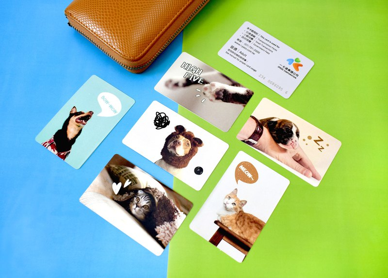 Ticket card decoration sticker - playful animal