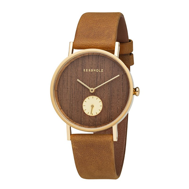 KERBHOLZ - Wood Watch - FRIDA - Walnut - Gold (35mm)