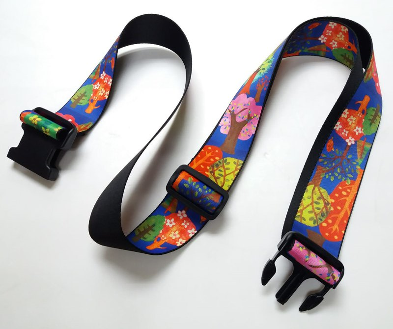 Unique and colorful patterns luggage strap