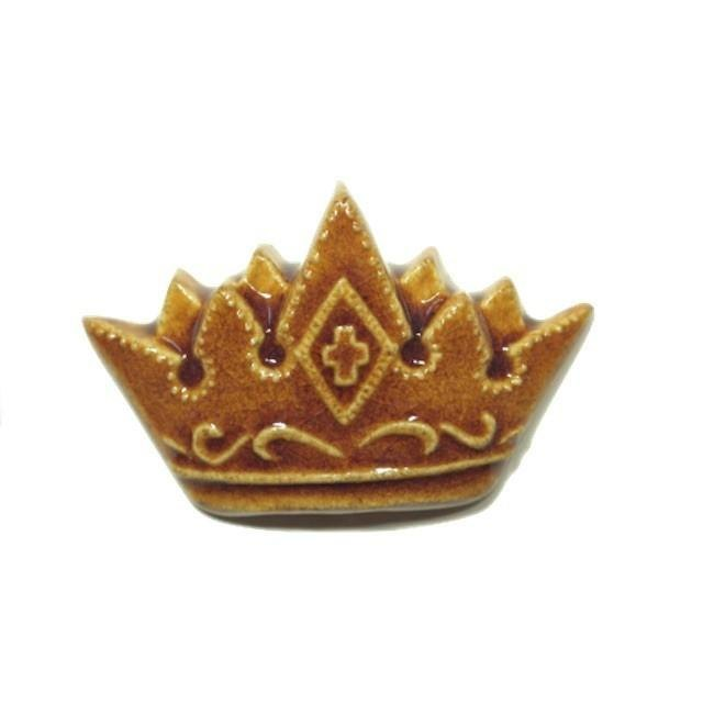 Pottery brooch (new work) King (rain)
