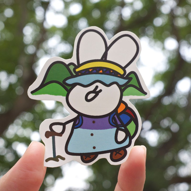 Fuzzy Family Shape Sticker - Mountaineering