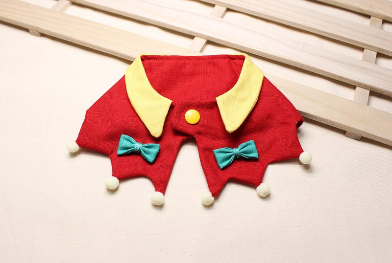 Pet Scarf | Pet Shawl | Naughty Elf • Red