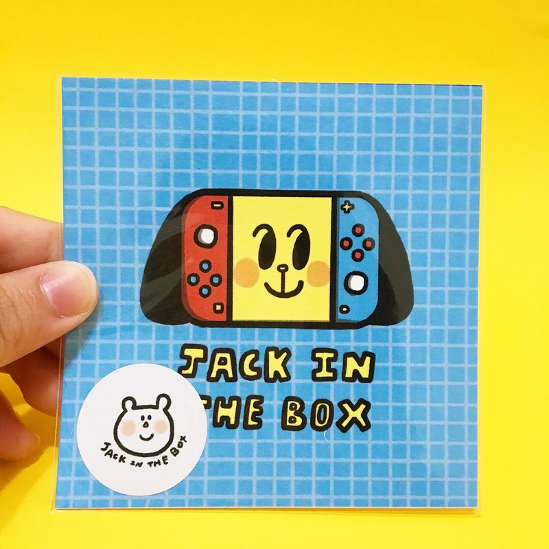 Jack in the box electric toy series square small card 4 there are a variety of optional