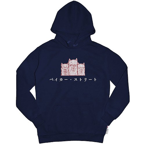 British Fashion Brand [Baker Street] Japanese Stamp Printed Hoodie