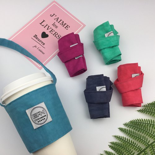 Green Cup cover / beverage bag (5 into the above)