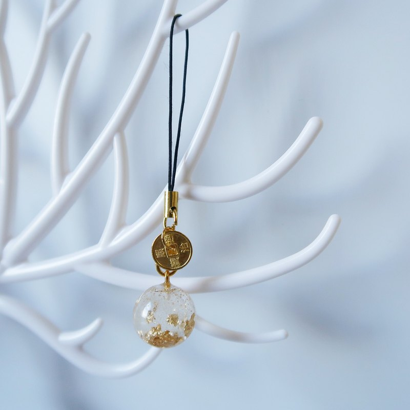 Extravagant Series - Gold Foil Crystal Ball Charm