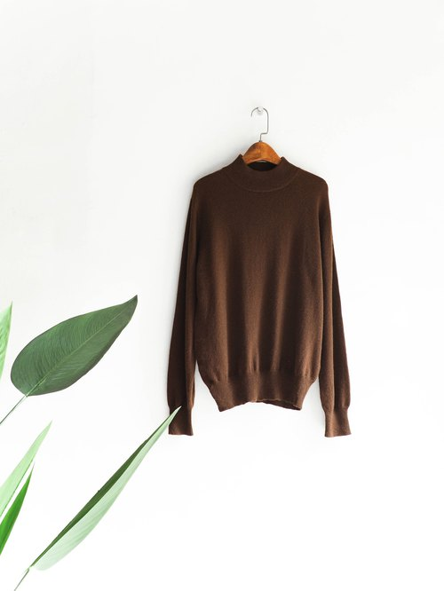 River Water Mountain - Hiroshima coffee afternoon tea Winter leisure time Antique Cashmere sweater Cashmere vintage oversize