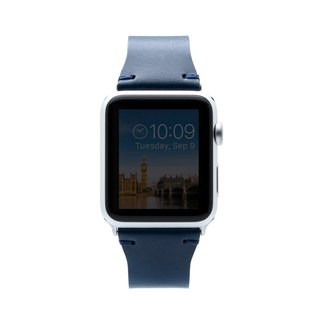 SLG Design Apple Watch 1/2/3 42mm D7 IBL Top Leather Strap - Blue
