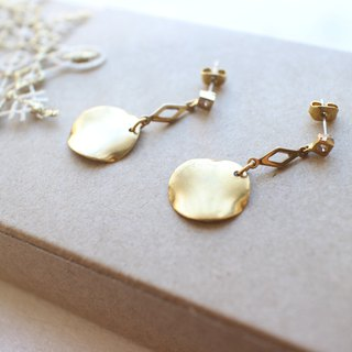At times-Zircon brass handmade earrings