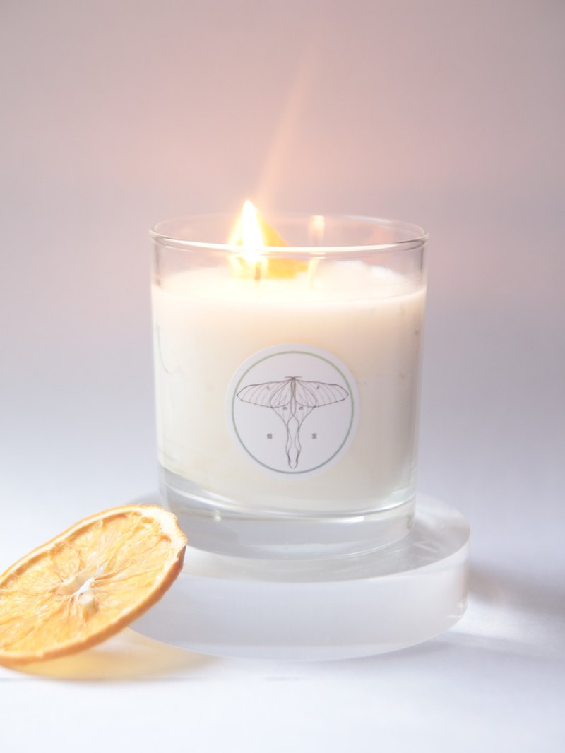 Fresh Orchard Handmade Essential Oil Soy Wax Candles Sweet Orange, Mint, Lemon, Geranium