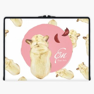 Axis - Custom 3-Sided Zipper Laptop Sleeve - French Bulldog_02