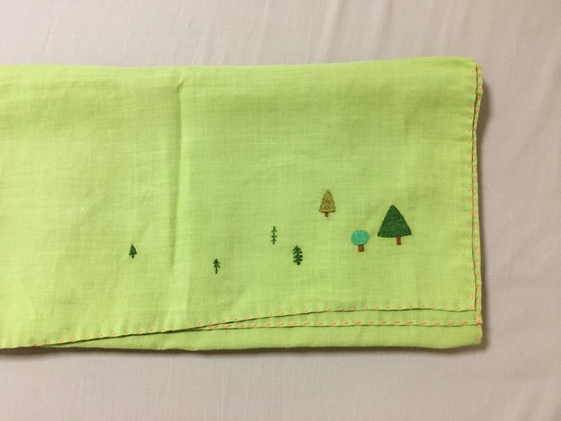 Cotton scarf / grass green