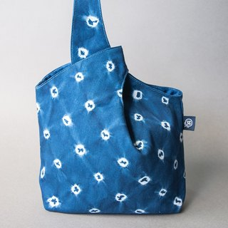 Simple Blue Dye Bag - Japanese Style Circle Wind
