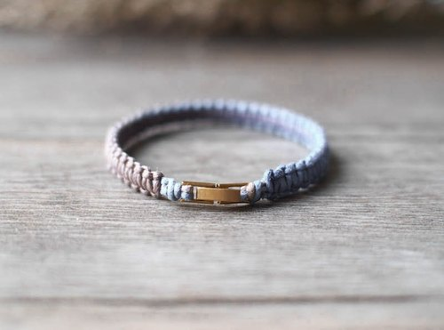 LIULIUYA [Deep Ocean - Fine] Department of dark blue dyed woven bracelet - Fine -