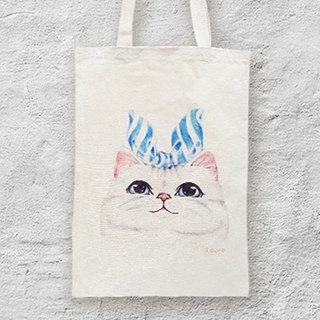 i package mountain package hand-painted sail canvas bag-A1. blue ribbon