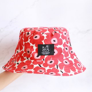 Red cute flower fisherman hat