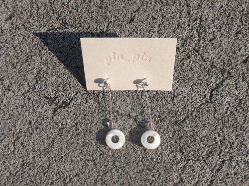 Mini donuts fine needle earrings-925 sterling silver ear needles