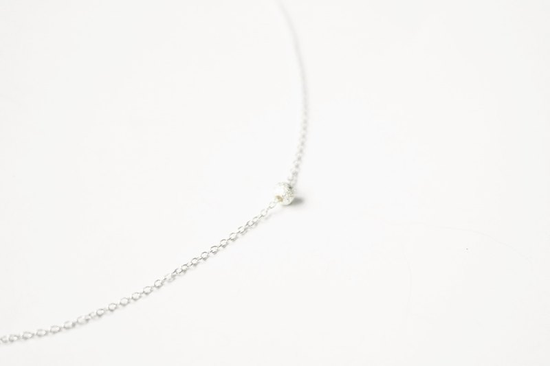:: Classical Series :: Snowball Snow Silver Clavicle Chain
