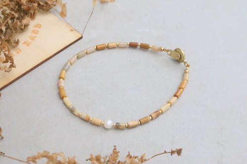 Agate Natural Pearl Bracelet 1030 (Light Raindrop)
