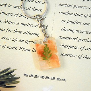 Orange & Green Key Chain/Bag Chain