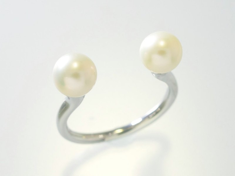 "Japan Quality | NUDE Ring ""Garden Eel"" Silver 925 × Pearl"