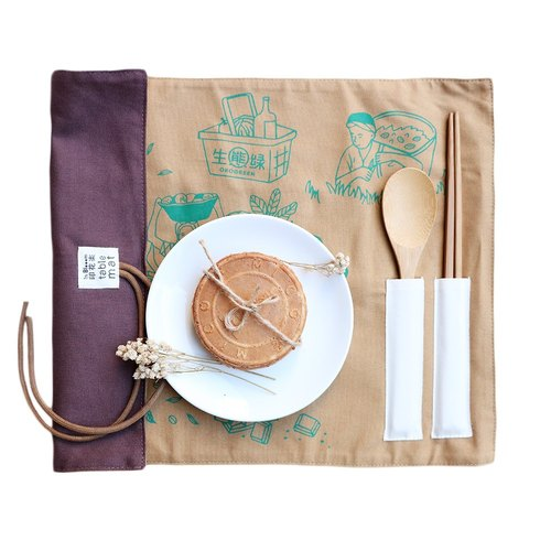 Eco-green X printing music joint place mats (including bamboo tableware)