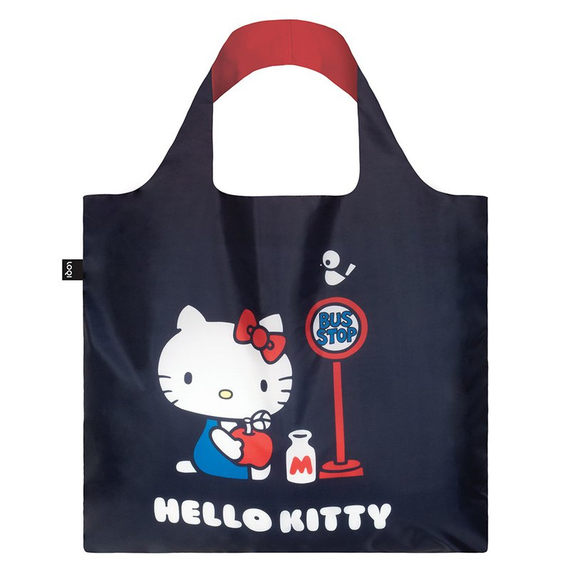 LOQI Shopping Bag - Sanrio License (Hello Kitty Bus KT09)