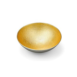 Pure tin gold foil seasoning plate (M)