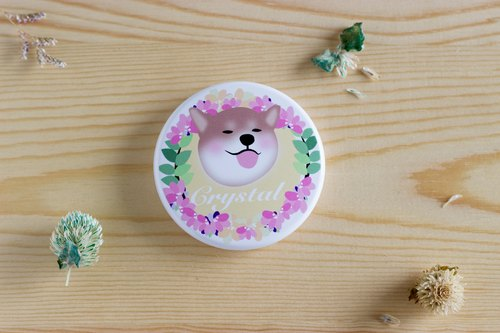 Custom name, Chai will (Shiba Inu, Doudou will (Bulldog), Keke will (Corgi) animals carry wreaths round mirror group
