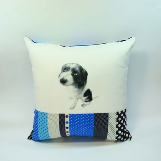 Big Dog embroidered pillow cover 04-