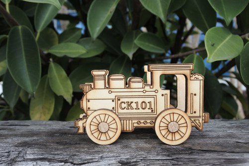 Lei carved wooden DIY tenon train [CK101] New Year Spring Festival New Year office practical birthday gift 2018 Happy New Year!