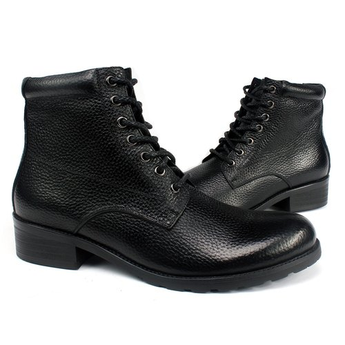 sixlips American simple zipper tooling boots black