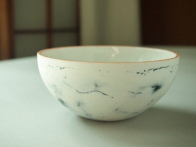 Porcelain bowl feeling blue