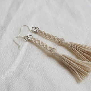 Elegant Macrame Earrings With Tassels #002