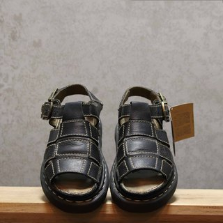 Tsubasa.Y Antique House Black 009 Martin Sandals, Dr.Martens England