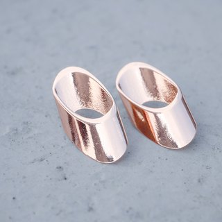 symmetrical-a pair of oblique ends tube earrings < once upon a time*earrings >