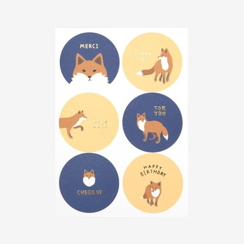 Dailylike circular message sticker -01 fox, E2D00090