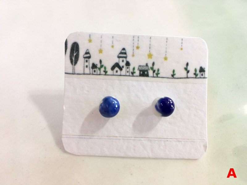 Handmade ceramic*earrings*