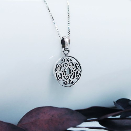 Window long window (small) 925 sterling silver necklace -ART64