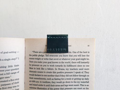 [NINOX] Handmade Leather Bookmarks - Folding Print