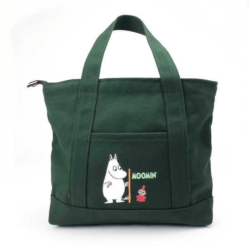 Moomin 噜噜米 authorized - Japanese small pocket bag (dark green), AE02