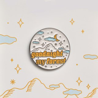 Sleeping forest graphic pin