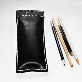 Simple leather pencil case / magnetic bag mouth