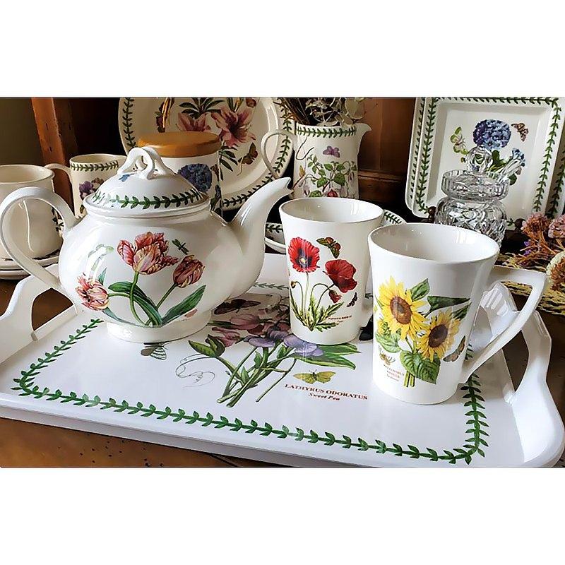 贈托盤 經典植物園系列-280ml馬克杯雙人下午茶組(二杯一壺)
