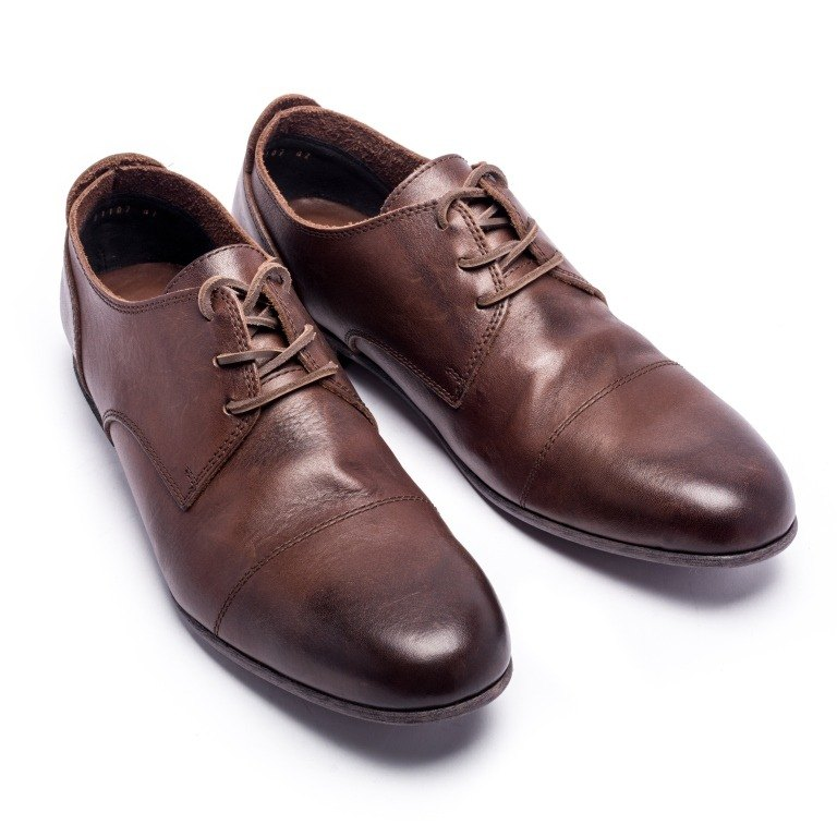 ARGIS classic simple low-tube Derby shoes #91102深咖啡-Japan handmade
