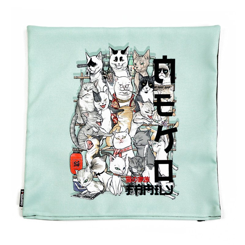 Neko family yakuza cat pillow case New arrival Gift New Year
